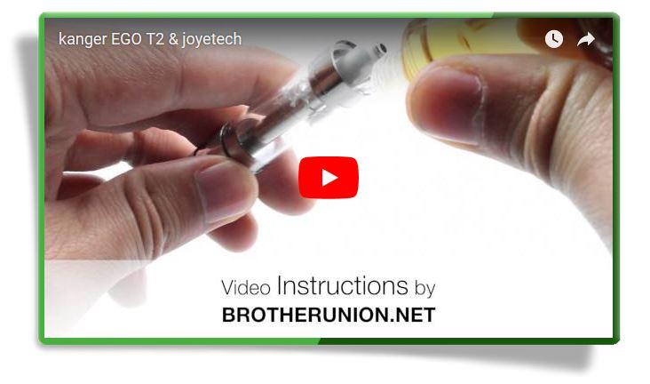 Видеоинструкция по использованию Клиромайзера Kanger Т2