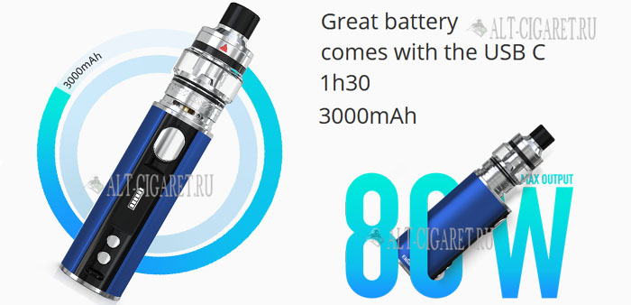 Eleaf iStick T80 VW Kit with Pesso 3000mAh
