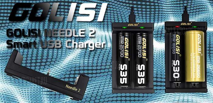 Зарядное устройство Golisi Needle 2 Smart USB