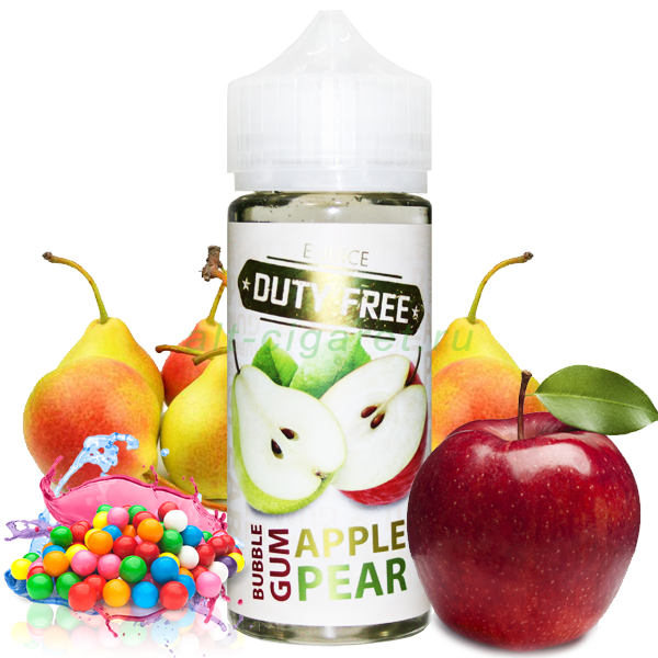 Duty Free White 120 мл. Сочная жвачка с яблоком и грушей