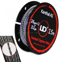 Kanthal A1 Twisted Clapton Wire, 5м (26ga x 2 + 32ga)