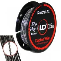 Kanthal A1 Clapton Wire, 5м (32ga + 28ga x 2)